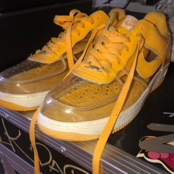 Clear Toe Nike Air Force Yellow